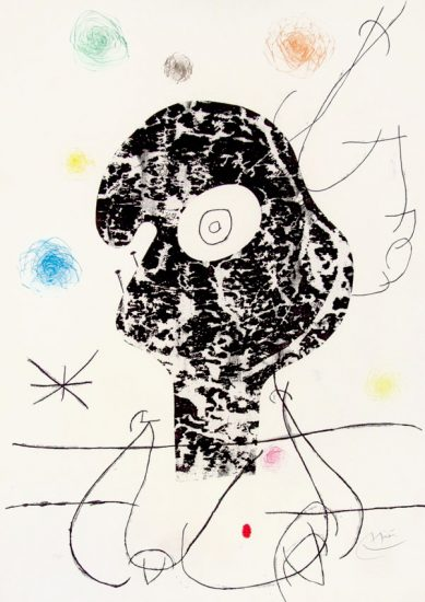 Joan Miró Etching, Emehpylop, 1968