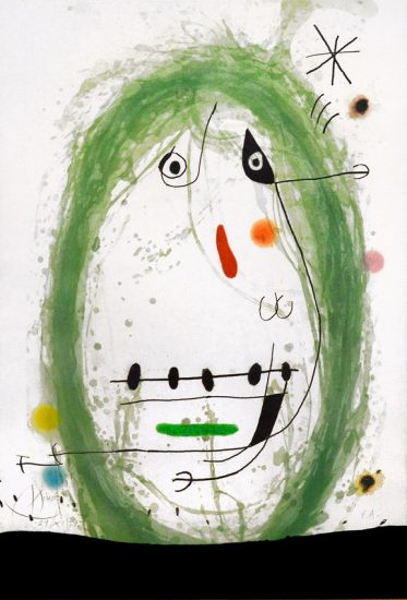 Joan Miró Etching, L' Exile Vert (The Green Exile), 1969
