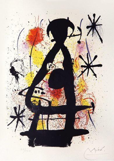 Joan Miró Lithograph, La lune pres de paraitre, from 'Hai-Ku', 1967