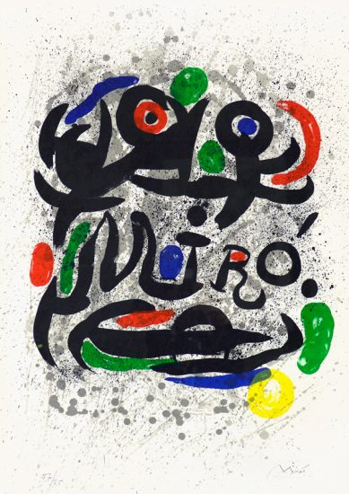Joan Miró Lithograph, Printed for Galerie Gerald Cramer, 1969