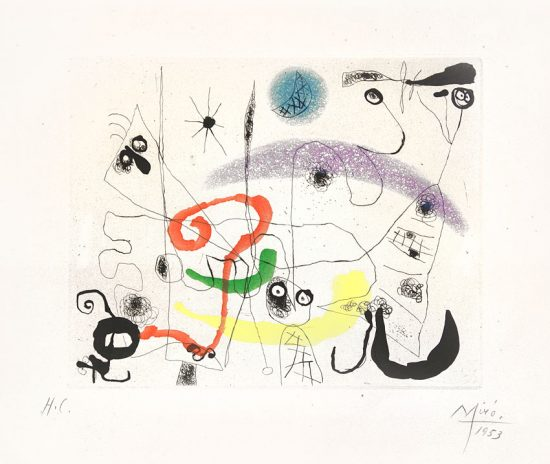 Joan Miró Lithograph, from 'Series III', 1953