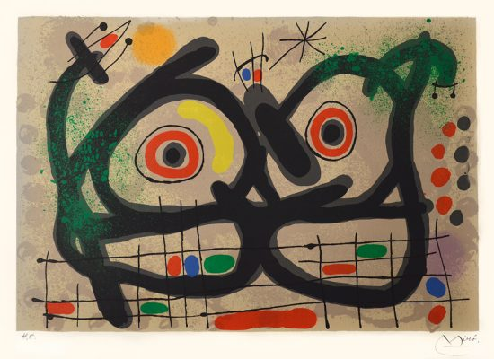 Joan Miró Lithograph, Le lezard aux plumes d'or (The Lizard with Golden Feathers), 1967
