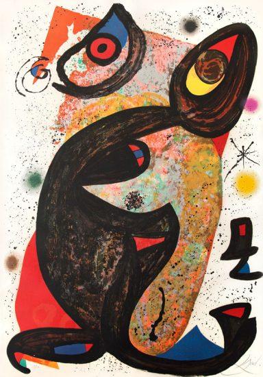 Joan Miró Lithograph, Onésime, 1975