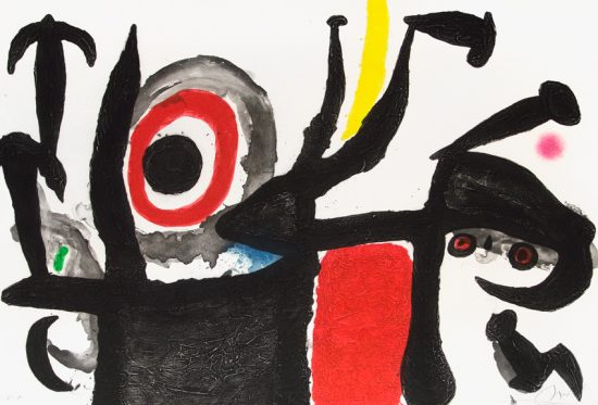 Joan Miró Aquatint, Manoletina, 1969