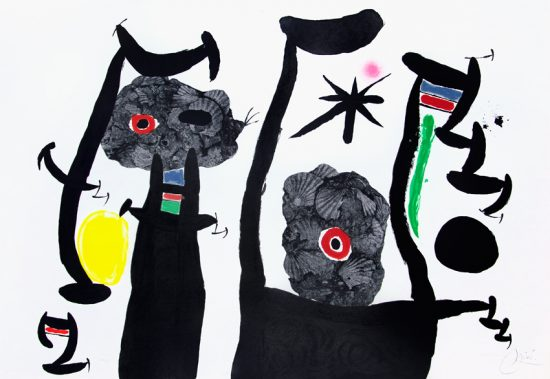 Joan Miró Lithograph, Les coquillages (The Seashells), 1969