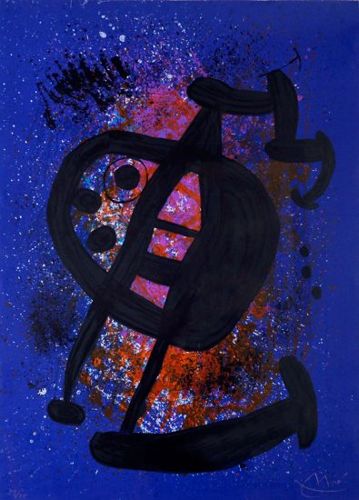 Joan Miró Lithograph, Le Grand Écart (The Great Gap), 1969