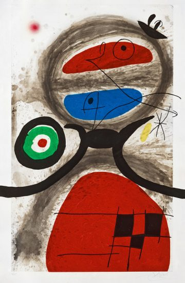 Joan Miró Etching, L'Aïeule devant la Mer (The Grandmother by the Sea ), 1969