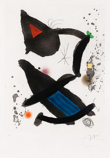 Joan Miró Etching, Le Roi David (King David), 1972