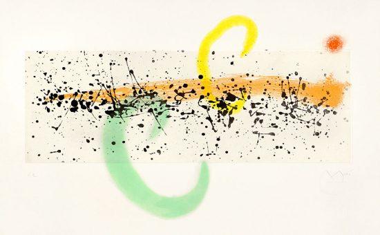 Joan Miró Aquatint, Lune et Vent (Moon and Wind), 1963
