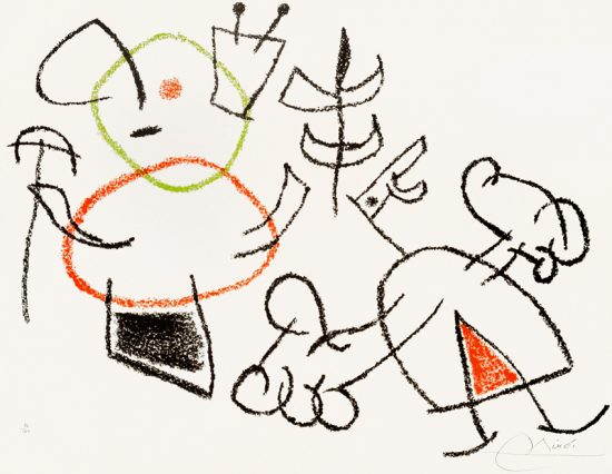 Joan Miró Lithograph, Pl. 14 from Ubu aux Baleares, 1971