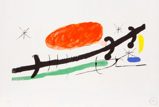 Joan Miró Lithograph, Cover for Exhibition Catalogue at Sala Pelaires, Palma de Majorca, 1970