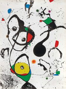 Joan Miró Etching, La Reine des éphémères (The Queen of Éphémeres), 1975