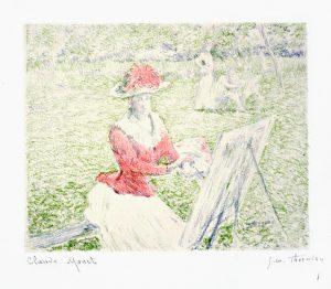 Claude Monet Lithograph, Blanche Painting, c. 1892-3