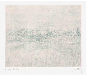 Claude Monet Lithograph, Vétheuil dans le brouillard (Vétheuil in the Fog), 1894