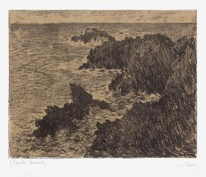 Claude Monet Lithograph, La Côte Sauvage (The Wild Coast), 1894