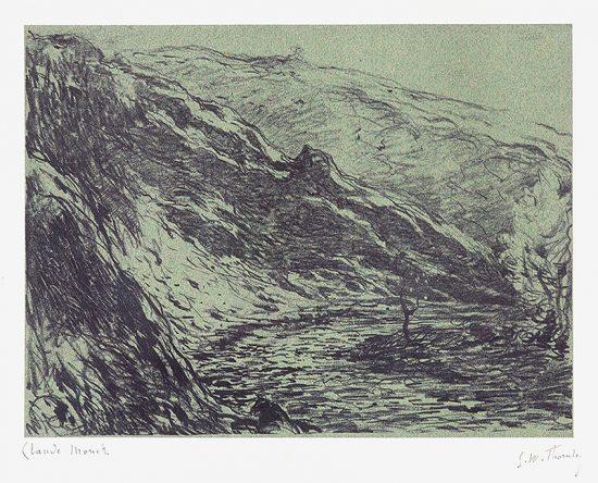 Claude Monet Lithograph, Ravin de la petite creuse (Gorge of the Petite Creuse), 1894