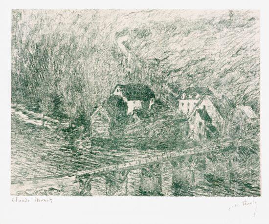 Claude Monet Lithograph, Le Pont de Vervy (The Bridge of Vervy), 1894