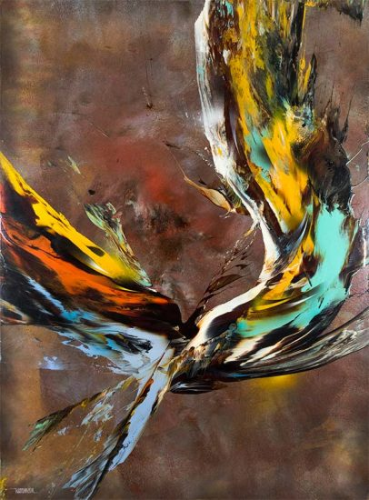 Leonardo Nierman Oil, Nierman Painting, Flight Sensation