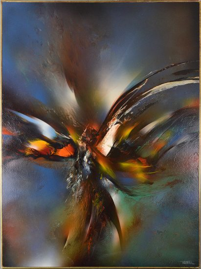 Leonardo Nierman Oil, Untitled (Bird in Flight)