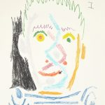 Pablo Picasso Aquatint, Tete d'homme au maillot raye (Man's Head with Striped Shirt), 1964