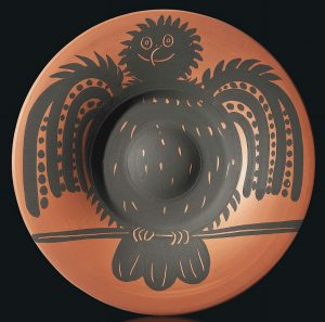 Pablo Picasso Ceramic, ceramic Perched Black Owl (Hibou Noir Perche), 1957