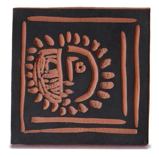 Pablo Picasso Ceramic, Petite face solaire (Little Solar Face), 1968