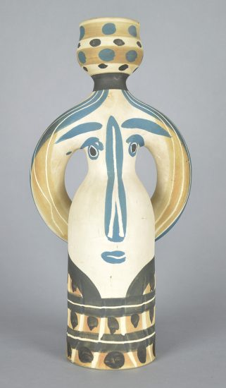Pablo Picasso Ceramic, Lampe Femme (Woman Lamp), 1955