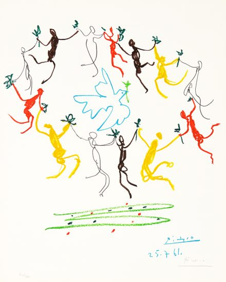 Pablo Picasso Lithograph, La Ronde de la Jeunesse (The Youth Circle), 1961