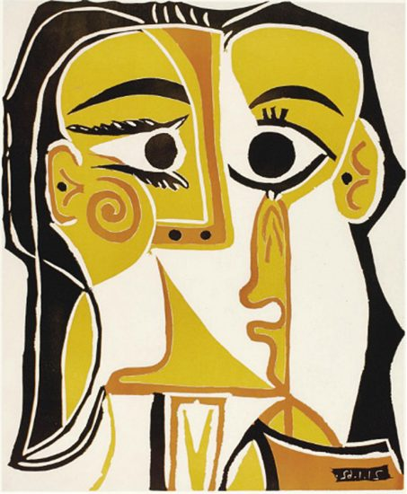 Pablo Picasso Artwork, Tête de Femme (Head of a Woman), 1962