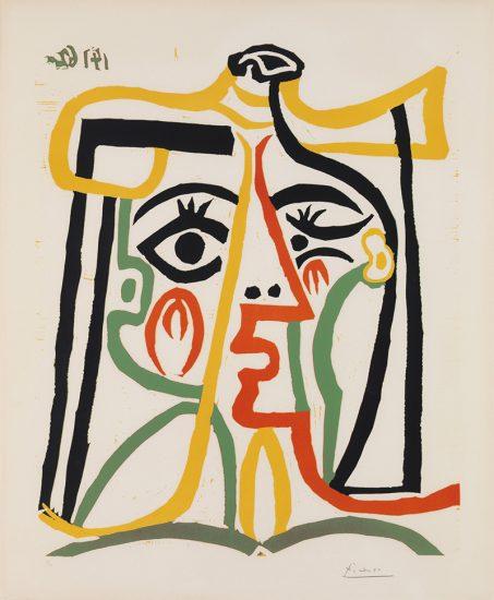 Pablo Picasso Lithograph, Tête de Femme (Head of a Woman), 1962