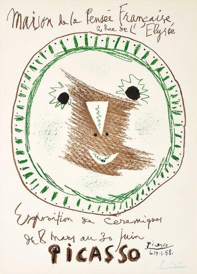 Pablo Picasso Lithograph, Affiche Exposition de Céramiques (Ceramic Exhibit), 1958