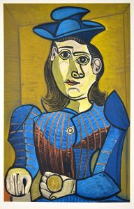Pablo Picasso Lithograph, Femme Assise (Dora Maar), 1955