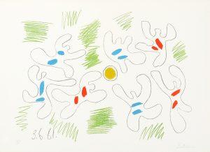 Pablo Picasso Lithograph, Football, 1961