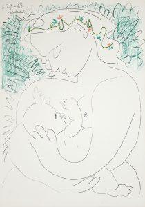 Pablo Picasso Lithograph, Grande Maternité (Grand Maternity), 1963