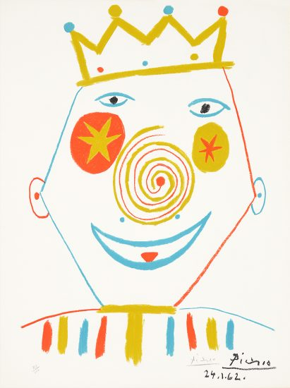 Pablo Picasso Lithograph, Le Clown (The Clown),  1962
