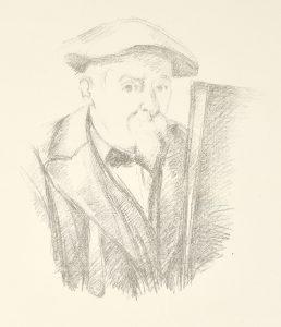 Paul Cézanne Lithograph, Portrait de Cézanne par lui-même, c. 1898