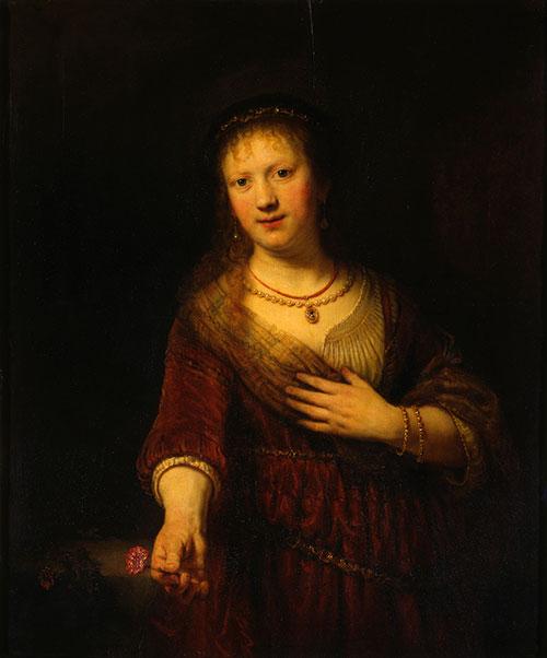 Rembrandt_Saskia_with_flower