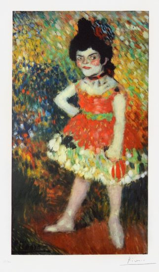 Pablo Picasso Lithograph, Danseuse naine ( Dwarf Dancer ) from the 'Barcelona' suite , 1966