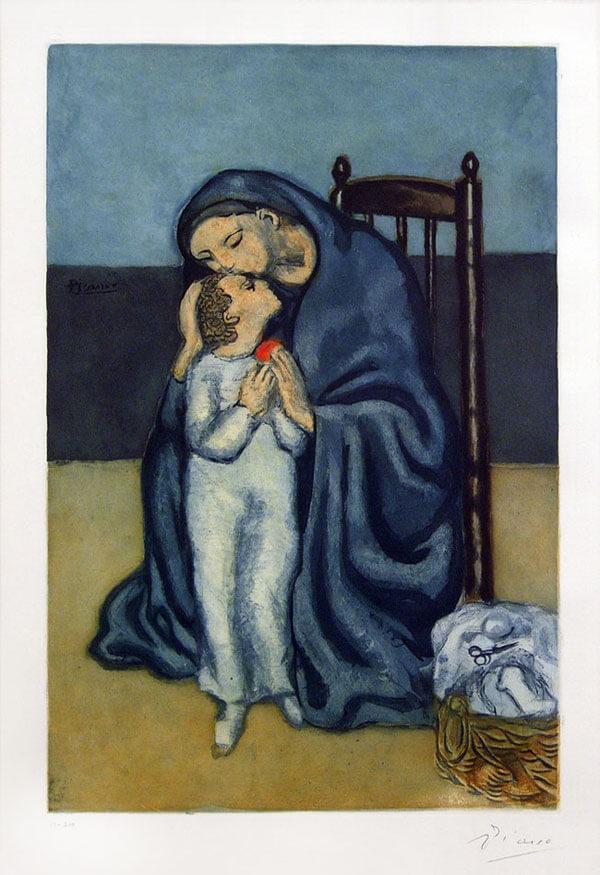 Pablo Picasso, Maternité, 1930, Aquatint