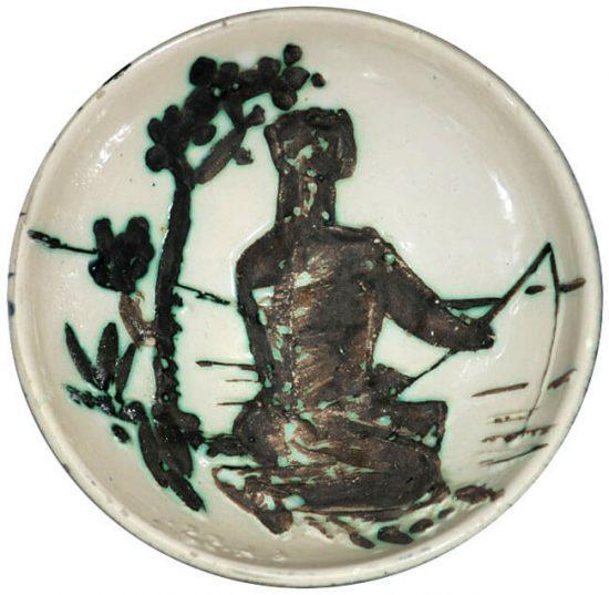 Pablo Picasso Ceramic, Angler, 1955 A.R. 262