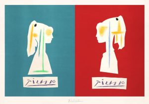 Pablo Picasso Lithograph, Verve, 1954