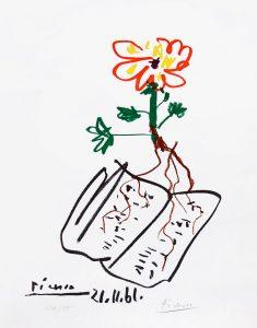 Pablo Picasso Lithograph, Fleur (Flower), 1961