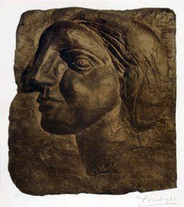 Pablo Picasso Lithograph, Pablo Picasso Tête de Femme (Marie-Thérèse) [Head of a Woman], 1958