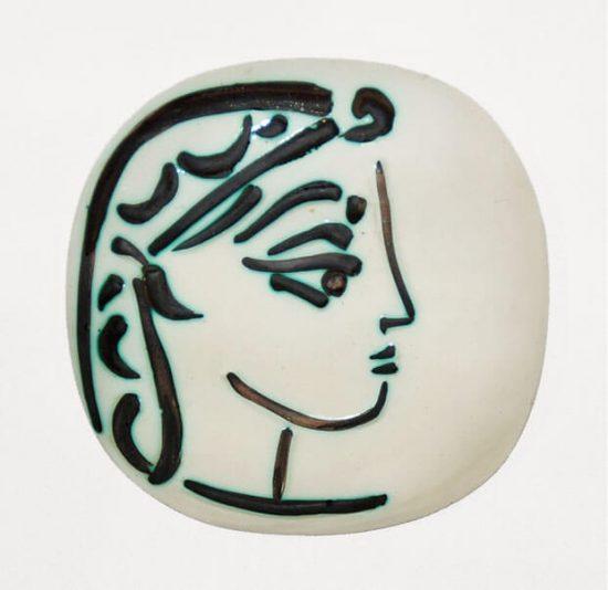 Pablo Picasso Artwork, Profil de Jacqueline (Jacqueline's Profile), 1956 A.R. 383
