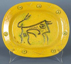 Pablo Picasso Ceramic, Bull, 1947