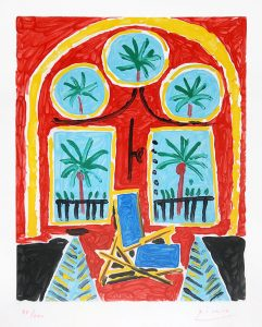 Pablo Picasso Aquatint, La fenêtre de l'atelier à la Californie (The Window of the Studio La Californie), 1959