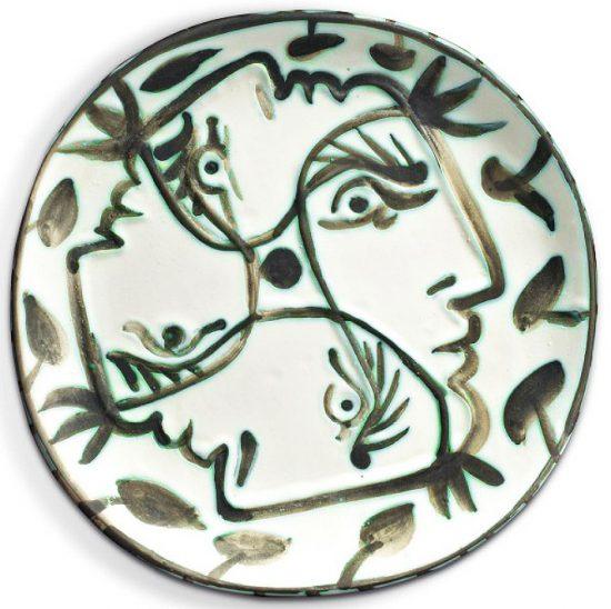 Pablo Picasso Lithograph, Quatre profils enlacés (Four enlaced profiles), 1949 A.R. 88