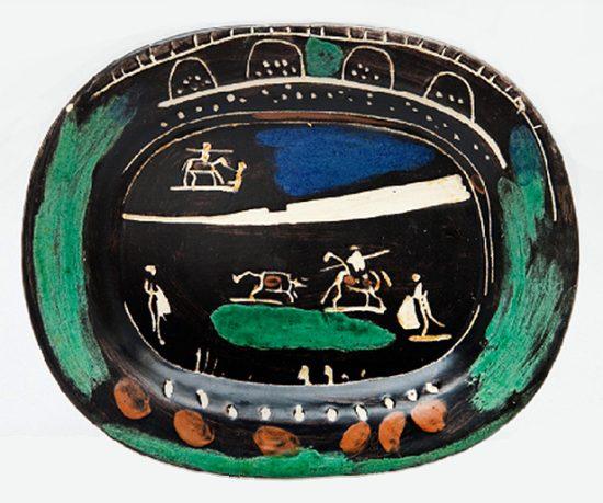 Pablo Picasso Ceramic, Corrida verte (Green Corrida), 1949 A.R. 81