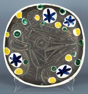 Pablo Picasso Ceramic, Ceramic Unique color variant, Tete de chevre de profil, 1952