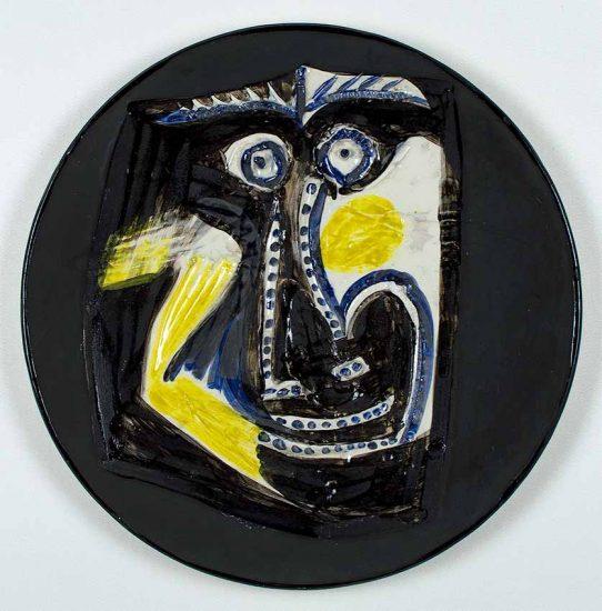 Pablo Picasso Ceramic, Picasso Plate, Visage (Face), 1960 A.R. 446